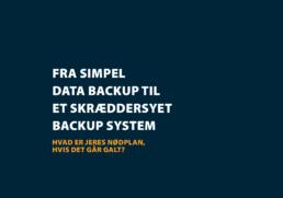 Backup og Recovery. Få hjælp fra DataFacility
