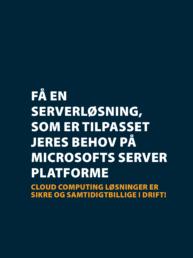 Cloud Computing - server løsning på Microsoft server platform.