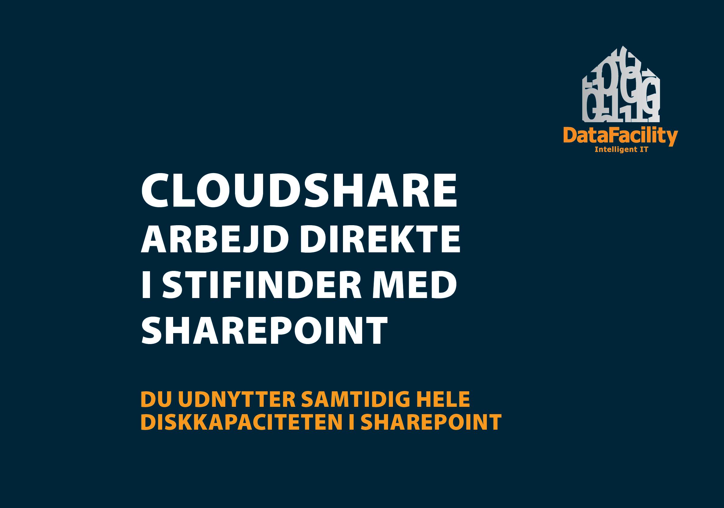 Cloudshare - udvidelse til Microsoft Sharepoint. DataFacility